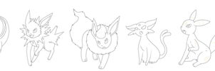 Eeveelution_template by pitch-black-crow