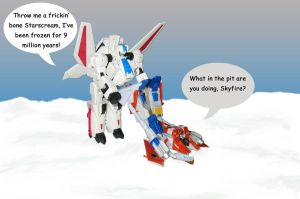 Skyfire x Starscream Crack by xStarSaber