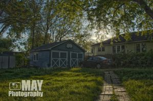 Pathway to Garage by Askingtoattackmeghan
