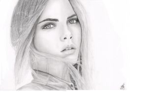 Cara Delevingne drawing by mathijs050