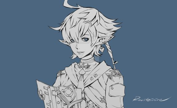 Commission - Alphinaud by Rousteinire