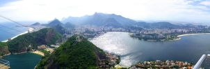 Panoramic View of Rio - Brazil by bbmbbf