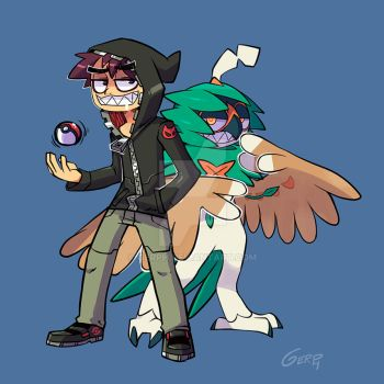 Gerph and Decidueye are ready for battle! by GERPH