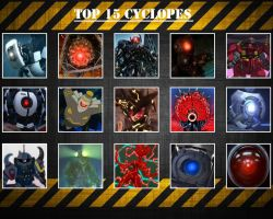 Top 15 Cyclopes by Makuta52