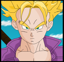 SSJ Trunks - DBZ Kai by Toxic-Mario