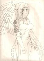 Elven Sorceress with Wings by Mistress-DarkLoki