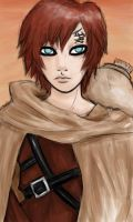 Gaara in the Sands by dragonkitty1