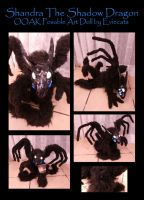 Shandra the Shadow Dragon Ooak Posable Art Doll by Eviecats