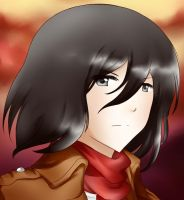 Mikasa headshot by Ailish-Lollipop