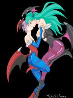 Morrigan x lilith by Ray-D-Sauce