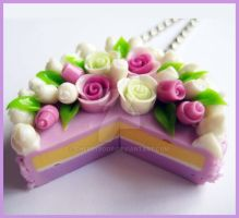 Lilac Cake Necklace by cherryboop