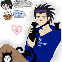 GF - Young Artegor with kittens by Ereni-chan