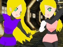Reploids_Namine_ and_Jasmine_ by Mello-chan91