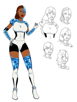 Cyborg - Titans Gender Bender by TheMightFenek