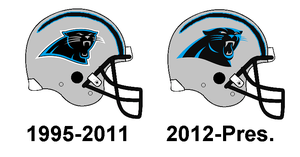 Panthers Helmet History by Chenglor55