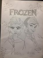 Frozen - Anna and Elsa by Kingoart
