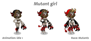 Mutant girl unit by Pykodelbi