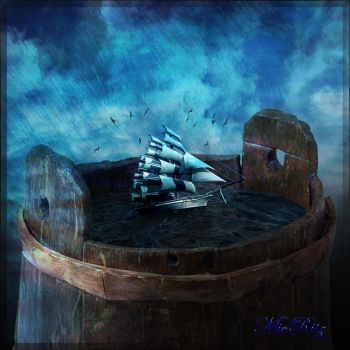 Ship in a bucket by MicRitz