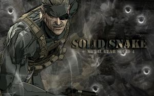 Solid Snake MGS4 Wallpaper by Hallucination-Walker