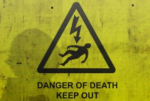 Danger of Death: Keep Out by Facial-Tic