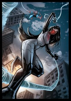 Silk and Spidey Illustration colors by xavor85