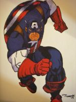 Captain America Drawing by cusT0M