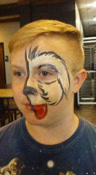 dog face paint by funfacesballoon