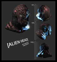 alien head by sangheili117