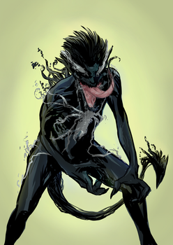 Symbiote Nightcrawler Thing by MonoFlax