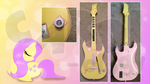 Customized Guitar Hero Fluttershy Guitar X360 by CARDI-ology