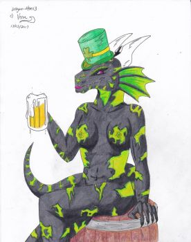 vena st-patrick day colored by dragon-man13
