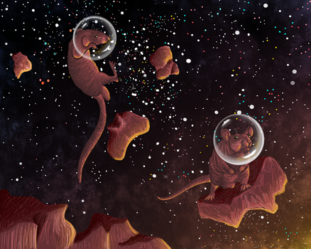 Patrick and Duncan in Space by chibikelzafox