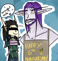 HAPPY 6TH ANNIVERSARY by Silverr-x