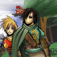 Golden Sun : Isaac and Felix by BuddhaTheGod