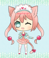 Adoptable auction: Pink kitty [CLOSED] by MidnightAdoptss