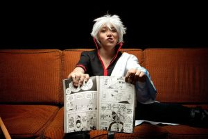 Gintoki Sakata - DAT FACE by Lulu-Heartnet