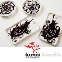 ink on skin necklace pendants by feanne