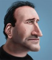 Caricature of a guy by imdeerman