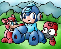 Megaman and Friends by shatishamararie