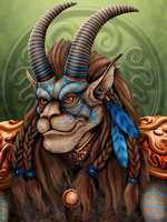 Orc Shaman Warrior Dharamus by DragonosX