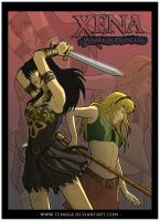 Xena and Gabielle Poster by Tenaga