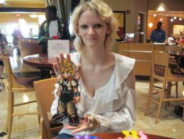 SC '12 - Felicia with her Pixel Figure Roxas by vincent-h-nguyen