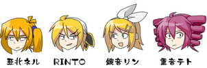 Some VOCALOID heads by Kousaku-P