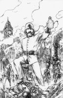 The Grenadier - cover pencils by RONJOSEPH-ARTIST