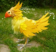 Chocobo! - OOAK Posable Doll by Ganjamira