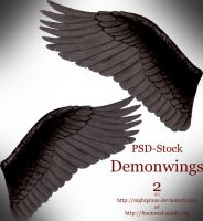 Demonwings 2 - PSD Stock by nightgraue
