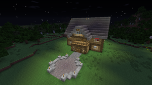 Minecraft Mansion Outside by It-Itches