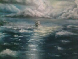 storm on the sea by anna1984