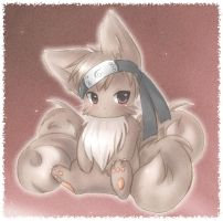 Naruto: 4tailed Kyuubi by Midna01