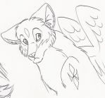 Lineart for Deviant ID by neon-possum